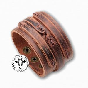 Genuine Leather Cowboy Bracelets Cuff Country NWT